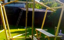 Hodinový manžel Praha: Stavba zahradního altánu